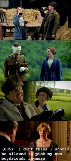 Poor Lady Edith. It's sad but true!