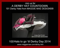 "Welcome to Day 2 of ""MAGGIE MAE DESIGNS® Derby Hat Countdown - 100 of 101"", presenting the ""Kristy"" Chapeau! http://www.maggiemae.com/derby.htm http://hatsandhorses.wordpress.com/2014/01/23/maggie-mae-designs-derby-hat-countdown-100-of-101/"