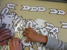JEU SYLLABOCAL : LES OBJECTIFS : Remobiliser les acquis en début CE1 , entrainement codage des mots CP Jeu pour produire des mots à partir des syllabes en renforçant la connaissance du code .Le fait d'attraper les syllabes permet de manipuler pour comprendre la structure du mot .Je pense utiliser des pinces à glaçon ou …