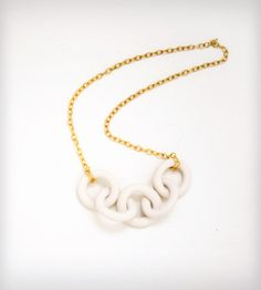 Porcelain Dock Chain Necklace | Jewelry Necklaces | Porcelain and Stone | Scoutmob Shoppe | Product Detail