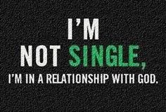 In a relationship with God...