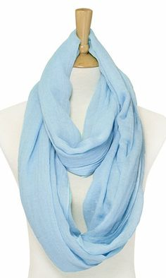 Lori Infinity Scarf in Soft Blue