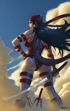Elektra fatal Woman//Jheremy Raapack/R/ Comic Art Community GALLERY OF COMIC ART