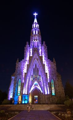 Catedral Nossa Senhora de Lourdes (also known as Catedral de Pedra) Canela, Rio Grande do Sul, Serra Gaúcha, Brazil
