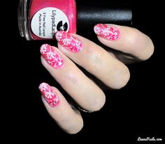 Nail Art Floral Bubbles