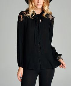 Loving this Black Long-Sleeve Tunic on #zulily! #zulilyfinds