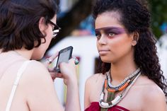 aLagarta #17   Terra Brasilis #makingof #beleza #beauty #brasil #editorial #emag #magazine #índios #make
