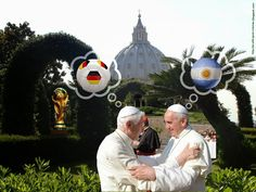 World sport memes. Germany vs Argentina, World Cup final 2014. Who Will Win The Brazil 2014 World Cup??? Two popes meet in Christmas greeting. Benedict XVI and Pope Francis.