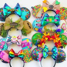 Would you believe it's been 2 years to the day since I created my first pair of ears? 😱It seems so long ago, because I have stretched my… Disney Mickey Ears, Disney Bows, Disney Diy, Disney Crafts, Disney Trips, Disney Headbands, Disney Inspired, Micky Ears, Crafty