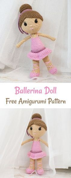 Crochet this pretty in pink ballerina doll to make a perfect gift for your little princess! Crochet this pretty in pink ballerina doll amigurumi to make a perfect gift for your little princess. It will be one of a kind present, you will not find in shops! Crochet Doll Tutorial, Crochet Doll Pattern, Crochet Patterns Amigurumi, Crochet Dolls, Crochet Gifts, Cute Crochet, Crochet For Kids, Crochet Baby, Crochet Princess