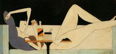 Pang Xunqin, The Girl on the Couch, 1930