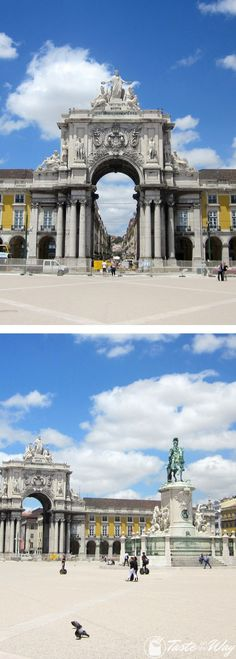 Check out our travel story about the Praca do Comercio square in Lisbon with pictures @tasteontheway