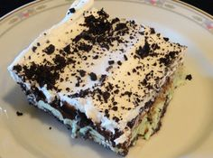 Oreo Mint Chocolate Chip Freeze-  Contest winning recipe... from Tampa....