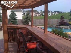 restaurant patio railing – Homes Tips Patio Railing, Patio Pergola, Deck With Pergola, Pergola Plans, Backyard Patio, Pergola Ideas, Patio Ideas, Pergola Cover, Pergola Kits