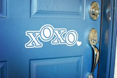 Valentines Day XoXo Vinyl Door Decal by ThisIsTheStuffs on Etsy, $6.00