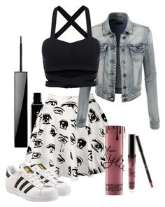 """Untitled #418"" by hey-there-its-kylah ❤ liked on Polyvore featuring Givenchy, Kylie Cosmetics, LE3NO and adidas Originals"