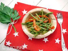 """""""Zack die Bohne!"""" – einfaches Rezept für ein leckeres Bohnen-Paprika-Ragout in rot-grün  #bohnen #ragout #paprika #gesund #vegan #tomatenmark #elbcuisine"""