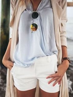 Neutrals.  I would love to wear this... Perhaps when my kids are out of the sticky-peanut-butter-finger stage!