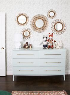 ikea hack - mint dresser- nursery // sarah sherman samuel. Adorable nursery + one of the best Ikea hacks I've seen.