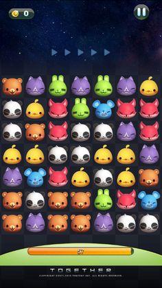 微信游戏系列:天天爱消除·天天连萌·天天酷跑 |GAMEUI- 游戏设计圈聚集地 | 游戏UI | 游戏界面 | 游戏图标 | 游戏网站 | 游戏群 | 游戏设计 I Love Games, Cute Games, Mini Games, Game Gui, Game Icon, Grid Game, Game Character, Character Design, Character Reference