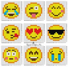 Crochet Emoji C2C Graphgan - Repeat Crafter Me