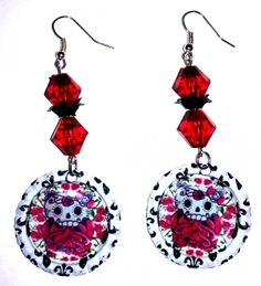 I just listed Sugar Skull Hello Kitty Earrings on The CraftStar @TheCraftStar #uniquegifts
