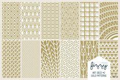 12 x EPS JPG Art Deco3 Gold Patterns ~ Patterns on Creative Market