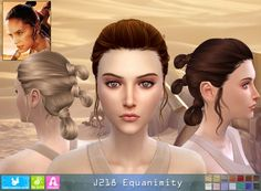 NewSea: J 218 Equanimity donation hairstyle • Sims 4 Downloads