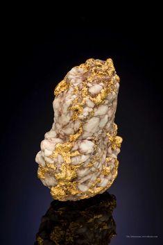 A robust gold quartz nugget thick veins reaching quartz mass