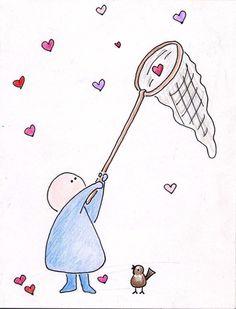 a watercolor painting Pencil Drawings For Beginners, Art Drawings For Kids, Cute Animal Drawings, Easy Drawings, Valentines Watercolor, Valentines Day Drawing, Bottle Drawing, Karten Diy, Dragonfly Art