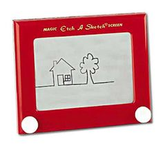 """Originally invented in France in the late 1950's by a man named Andre Cassagnes and who called it the L'Ecran Magique, it was not until 1960 that the Ohio Art Company brought it to market, advertising it under the new name """"Etch a Sketch"""" just prior to the holiday season."""