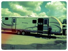 Enterra: Our family RV. It has been good to us and we love the outdoor kitchen!