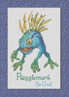 FLAGGLEMURK Murloc Cross Stitch Pattern. World of Warcraft. Note: This is correct purchasing link. Old Etsy  shop is closed now.