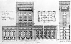 Louis Sullivan and Dankmar Adler; Architecture Drawings, School Architecture, Architecture Design, Illinois, Michigan, Chicago Buildings, Louis Sullivan, National Landmarks, Chicago School
