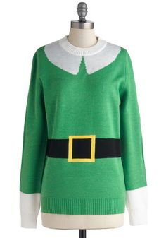 Can't stop giggling at this ModCloth Elf Sweater!