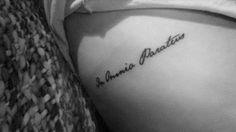 In omnia paratus rib #tattoo, jane austen writing, gilmore girls