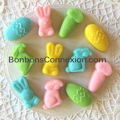 Easter mellocreams - Mellocrèmes de Pâques.  #bonbonspaques #eastercandy