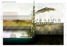 Michalis Thrasyvoulou, Kallikratis Evlogimenos, John Sheanon, Y1 Barch Urban farmers Market, Grand Union Canal, London Leicester School of Architecture, DMU
