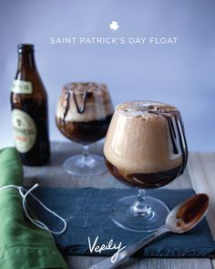 Guinness float with ice cream soda alcohol drink beverage.