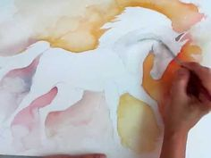 How to paint a horse with watercolor