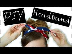 Here is a tutorial on how to make these cute Bandana Wire Headbands :) They are really fun and easy to make, plus they are very inexpensive! Join our Patreon. Bandana Hairstyles, Girl Hairstyles, Bandanas, Bandana Pelo, Wire Headband, Bandana Headbands, Gift Of Time, New Hair, Diys