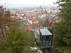Funicular to Ljubljana castle. Since 2006. The two millionth passenger was transported to the in mid August 2014.