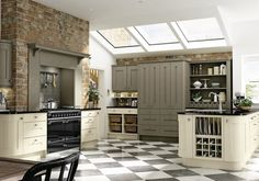 Austin Olive & Mussel http://www.academyhome.co.uk/products/kitchens/kitchen-ranges/shaker