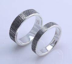rings with fingerprints