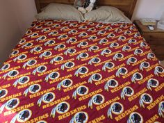 Washington Redskins Stadium Fleece Blanket Throw by WillowbendCottage on Etsy