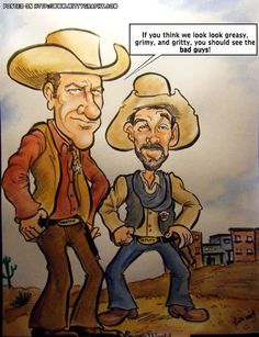 """Gunsmoke""   Marshall Matt Dillon and deputy Festus Hagen  (by Jimmy Pereira)"