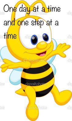 Bee Quotes, Bible Verses Quotes, Happy Quotes, Postive Thoughts, Funny Emoji Faces, Thinking Of You Quotes, Good Morning Friends Quotes, Cartoon Bee, One Step