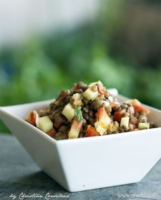 Lenticchie in insalata [Versione estiva]