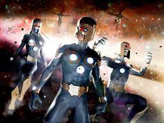 MCU Nova Corps Concept Art by John garrett. Marvel Cinematic Universe, Deadpool, Spiderman, Concept Art, Nova, Deviantart, Anime, Fictional Characters, Spider Man