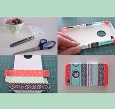 Customisation d'une coque Iphone. With masking tape!